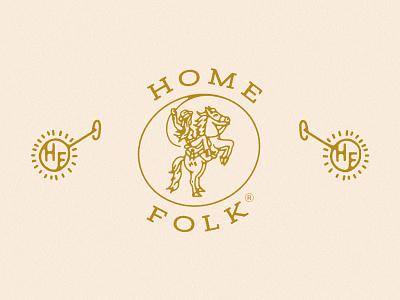 Home Folk Branding fashion botique western wear horse cowgirl logo brand system western logo rope lariat cowgirl logo design logo brand branding home folk