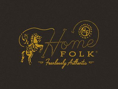 Home Folk Branding handdrawn rope lettering script lettering rope botique horse cowboy lariat cowgirl western logo branding brand identity logo design logo western wear western home folk