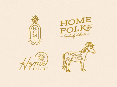 Home Folk Branding fashion botique western wear lariat cowboy hat cowgirl hat horse brand identity branding logo western cowboy cowgirl rope script spur
