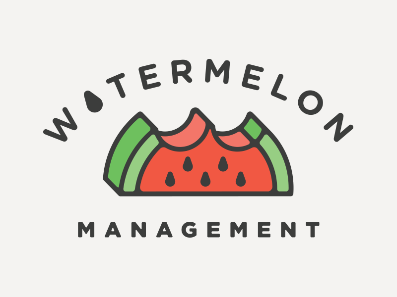 Watermelon MGMT branding logo icon watermelon