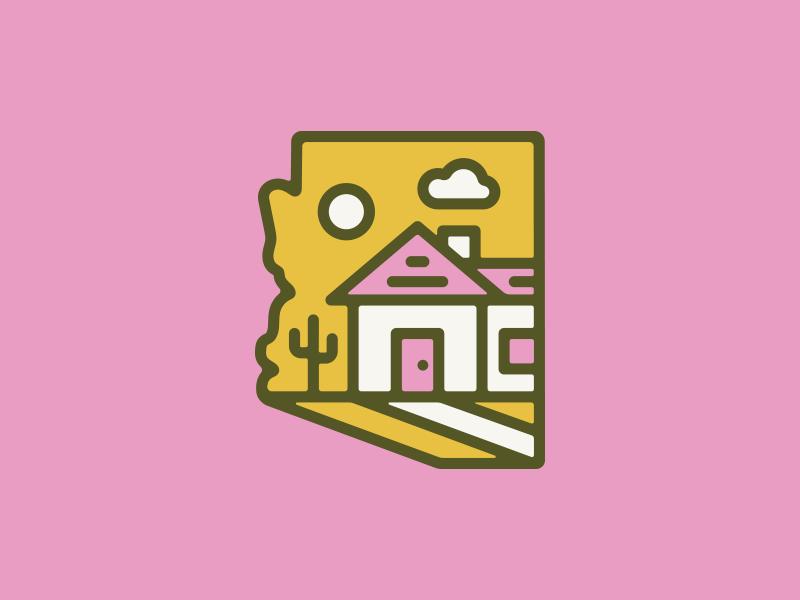 AZ Home arizona home illustration logo