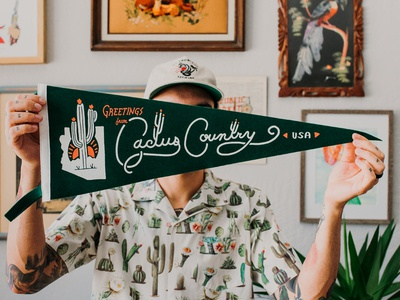 Cactus Country Pennant