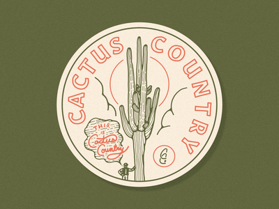 Cactus Country x Sticker Mule Coasters