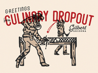 Culinary Dropout Postcard
