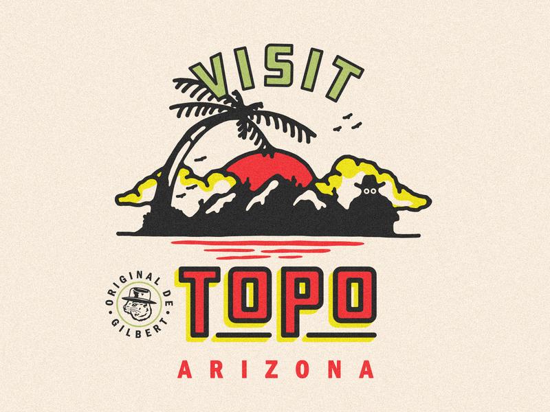 Visit Topo restaurant food ice cream burrito roadside attraction iconic travel travel poster arizona topo