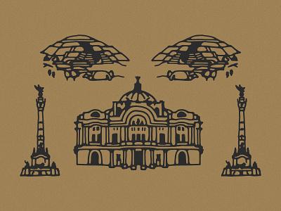 Mexico City mexico city icon handdrawn icon handdrawn illustration icons mexico city mexico icons mexico