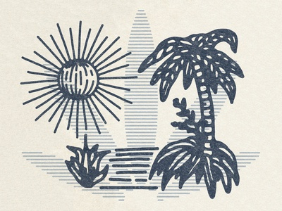 Palm And Sun Detail