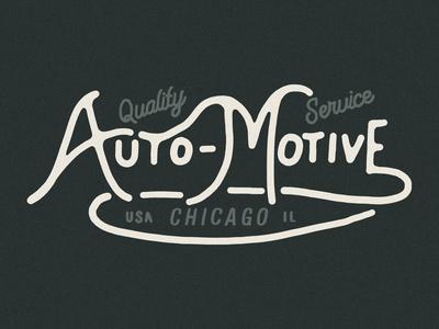 Auto-Motive Lettering