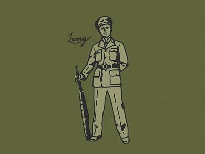Grandpa Larry wwii illustration grandpa army veterans day veteran