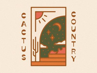 Cactus Country Portal reverse contrast arizona portal design illustration cactus country cactus desert portal