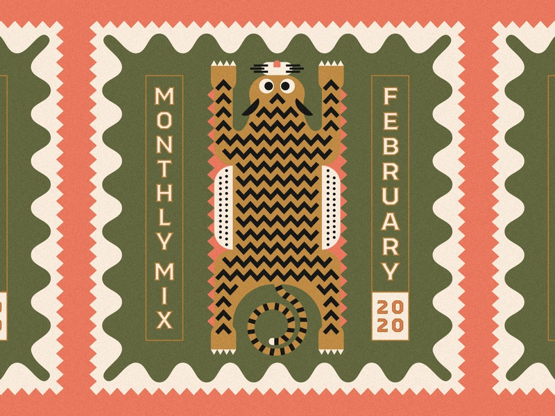 Monthly Mix: February cd artwork playlist february tiger logo tiger rug tiger music player music art album art cd cover music monthly mix
