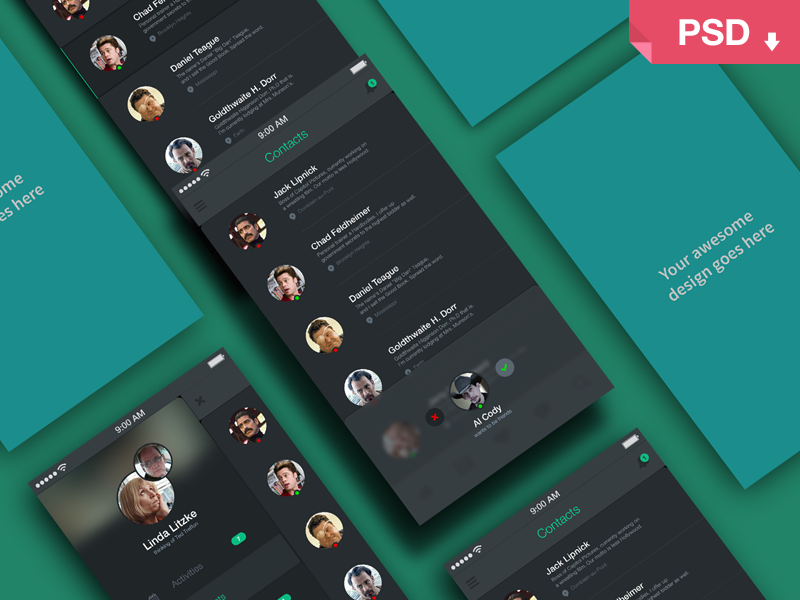 Freebie PSD: App Screens Perspective Mock Up psd freebie mock-up app photoshop free giveaway perspective screens
