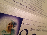 Mrs. Richardson's 80th Birthday Celebration Program
