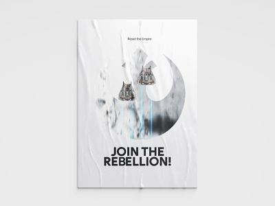 Hoth Snowspeeders – Join The Rebellion – May the 4th be with you typeface design variable variable font poster sanserif typography illustration propaganda star wars