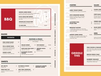 Rita's Seaside Grille – Rebrand Menu Design