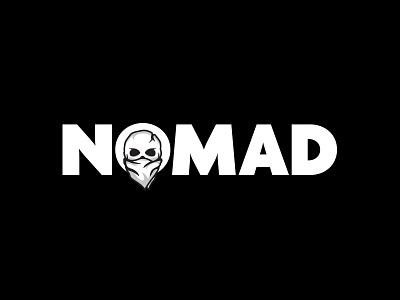 Project Nomad - Logotype iconography icon logotype mark halftone bandana skull branding logo
