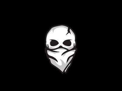 Project Nomad - Logo Mark iconography icon halftone logotype mark logo branding bandana skull