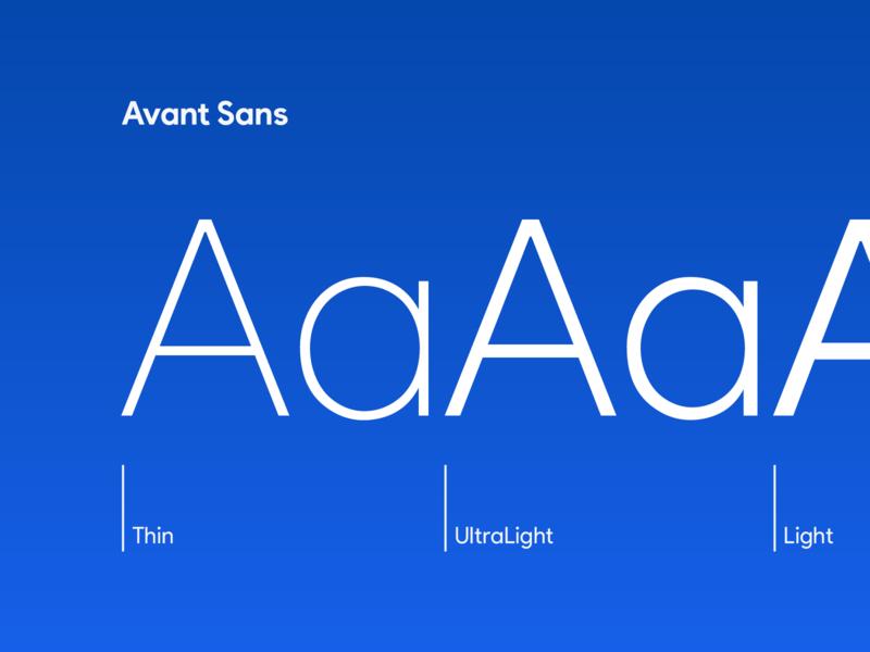Avant Sans – Aa