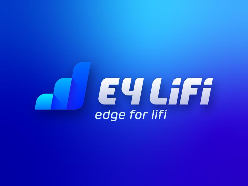 E4 LiFi logodesign icon typography logo curves corporate branding design vector illustrator