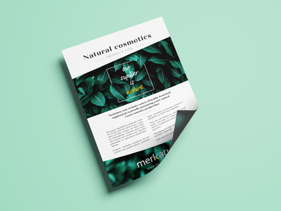 Flyer design flyer cosmetics natural floral
