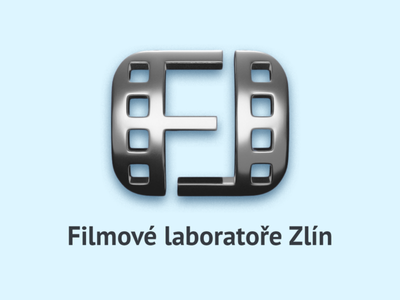 Logo - Filmové laboratoře Zlín corporate branding chrome film logo design laborathory movie logo