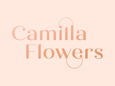 Camilla Flowers logo logo vector flowers typographic