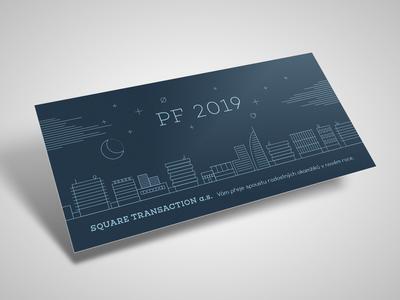 New year card blue minimal curves line vector illustrator design print card new year pf