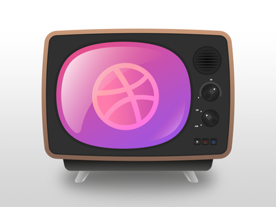 Oldschool TV illustration curves television gradient adobe illustrator vector tv dribbble