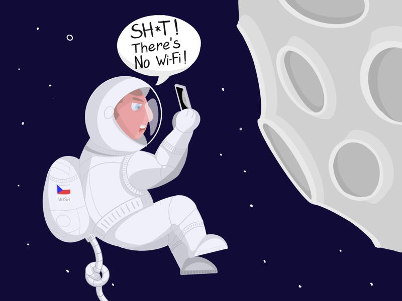 Cosmonaut cosmonaut space illustration drawing procreate
