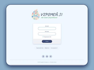 Login page - Vzpomen.si