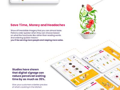 BioFly - visualization based POS app. menu food visualization art direction