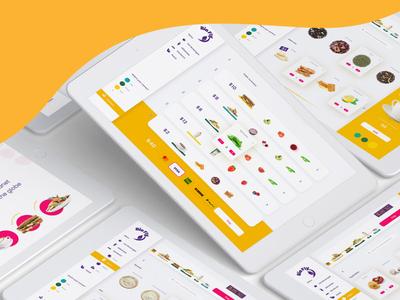BioFly - visualization based POS app uiux vegan visualization food art direction