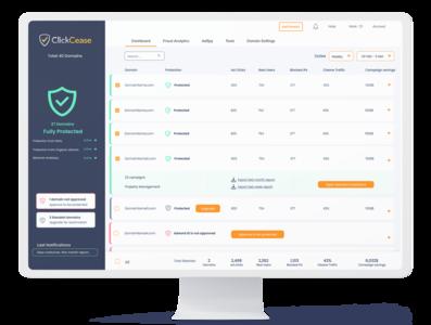 ClickCease Case Study - SaaS dashboards UXUIdesign -2 admin panel saas dashboad design redesign uiux