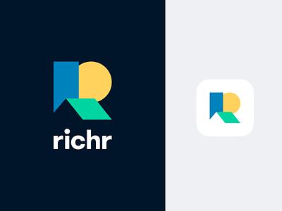 Richr - Brand Identity bright colors real estate identity branding brand logo