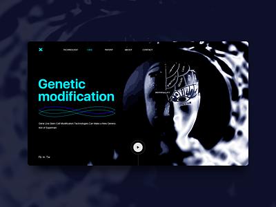 Genetically modified web web ux design ui design