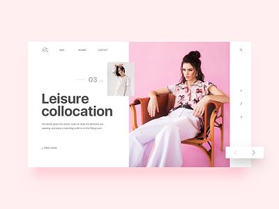 Web Design of Garment Mall ui web ux design design
