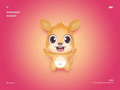 Kangaroo mascot cartoon logo kangaroo mascot brand illustration design