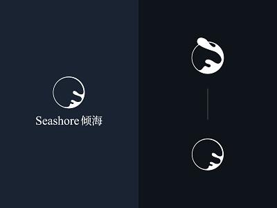 Seashore photo studio logo camera photography chinese style logo illustration design