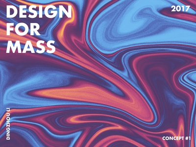 Design For Mass art typo color