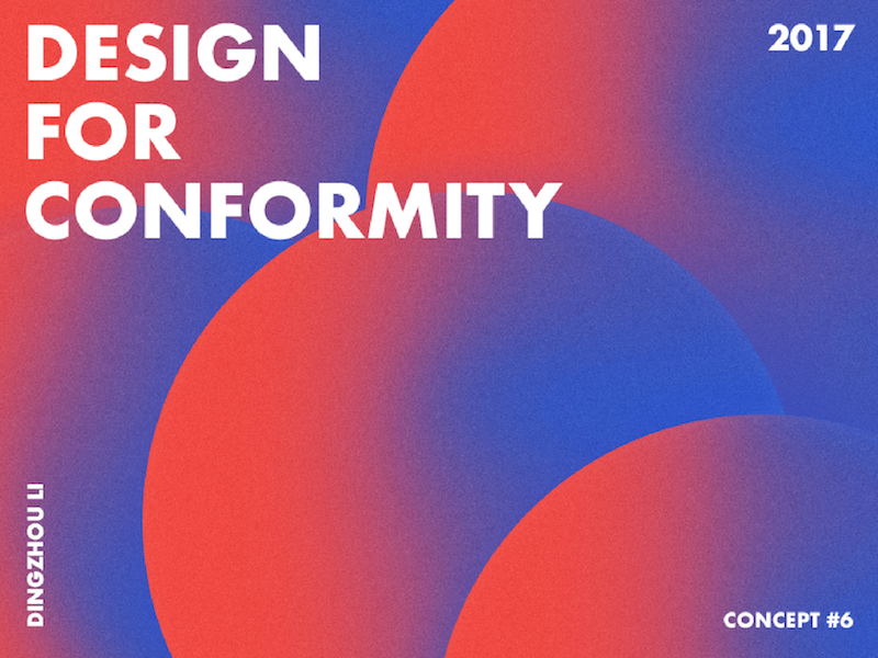 Design For Conformity asian overlap circle gradient abstract art typo color