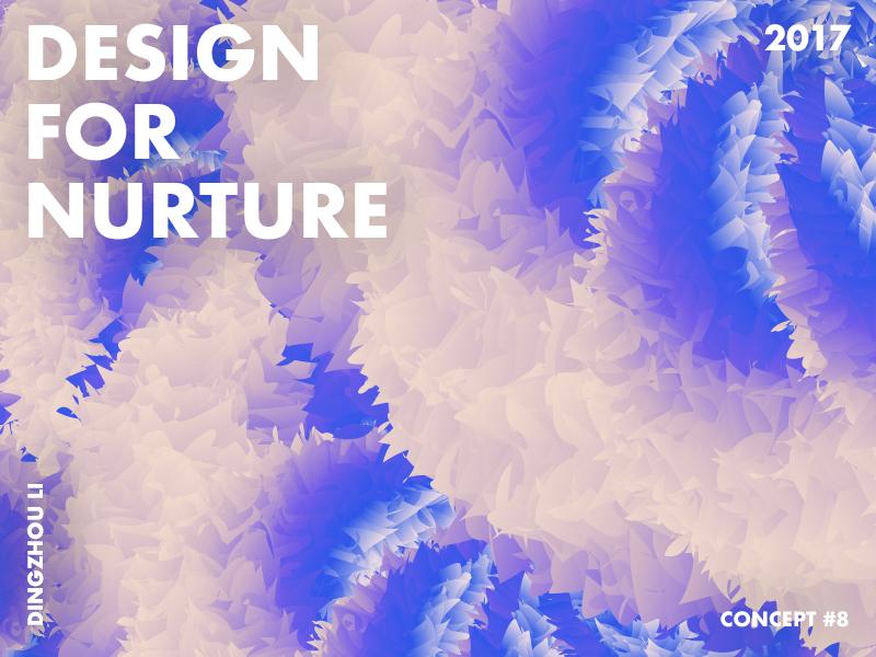 Design For Nurture light blue overlap circle gradient abstract art typo color
