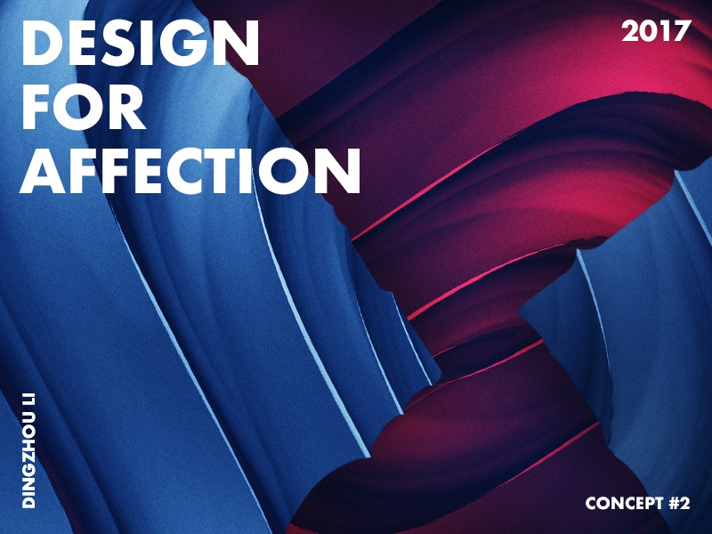 Design For Affection dark rose bat wing love red blue gradient abstract art typo color