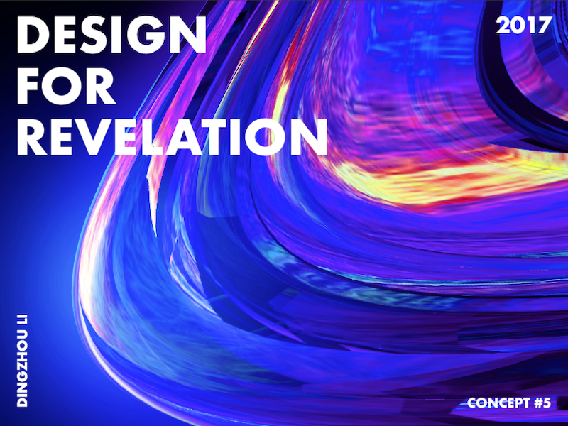 Design For Revelation space light fluid blue gradient abstract art typo color