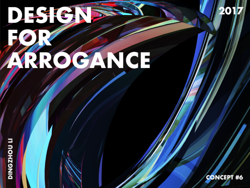 Design For Arrogance eagle bird crystal blue gradient abstract art typo color