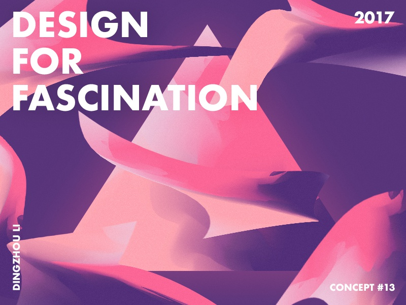 Design For Fascination fly triangle wallpaper purple red gradient abstract art typo color