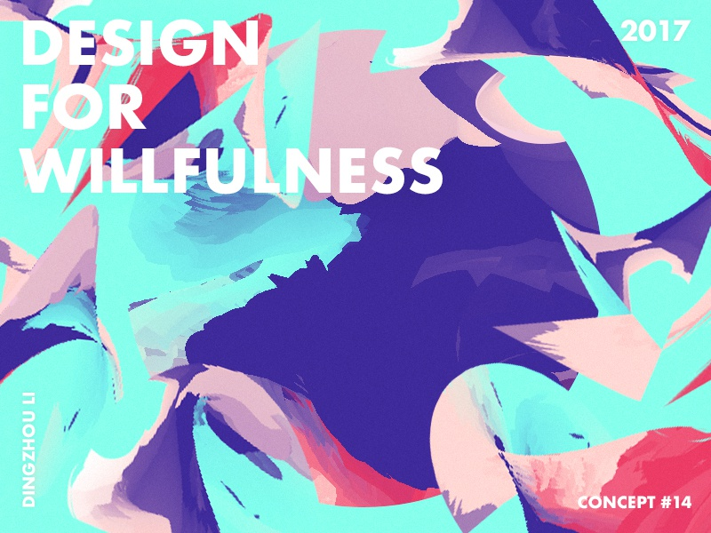 Design For Willfulness shape wallpaper bright green purple red gradient abstract art typo color