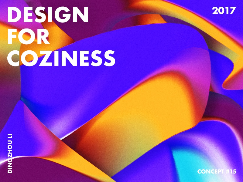 Design For Coziness shape wallpaper bright gradient abstract art typo color