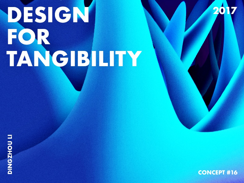 Design For Tangibility dream wallpaper blue gradient abstract art typo color