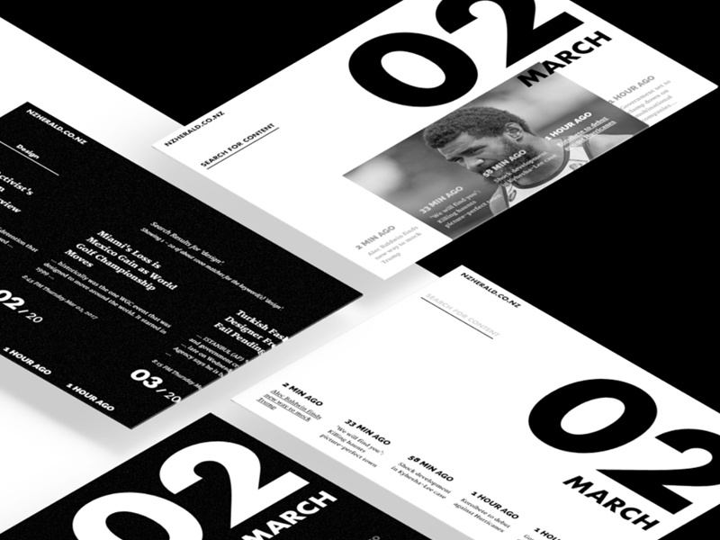 NewsS clean typography type bw white black website web blog news