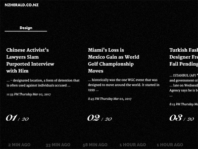 NewsS - Searching search clean typography type bw white black website web blog news